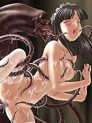 Insane Brutes Frightening Tentacles screws Makoto